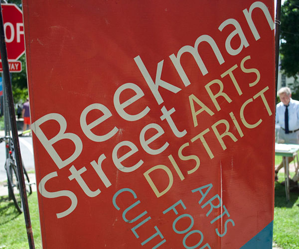 beekman street arts district banner