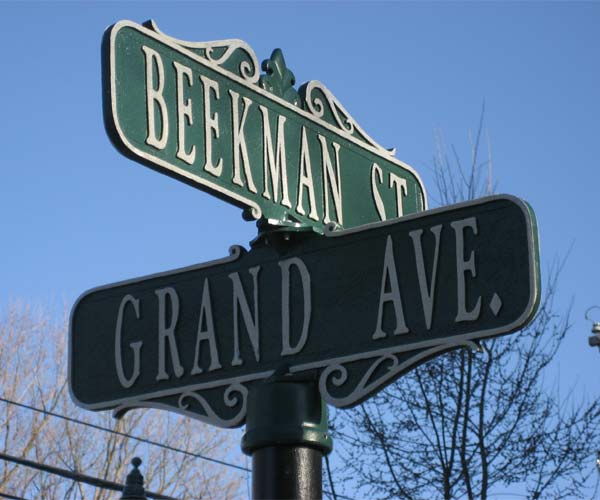street sign in saratoga