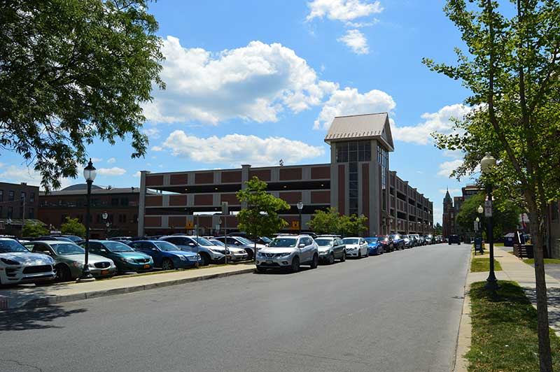 Street, Garage, and Surface Parking available in Saratoga Springs, NY