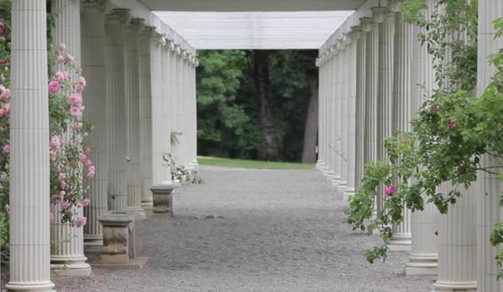 columns at yaddo