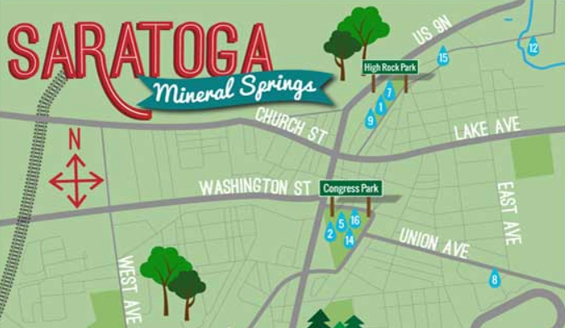 Saratoga Springs Mineral Springs Map