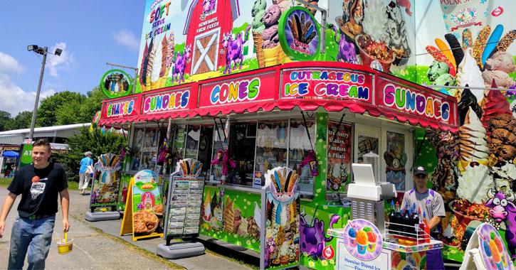 ice cream vendor at the fair