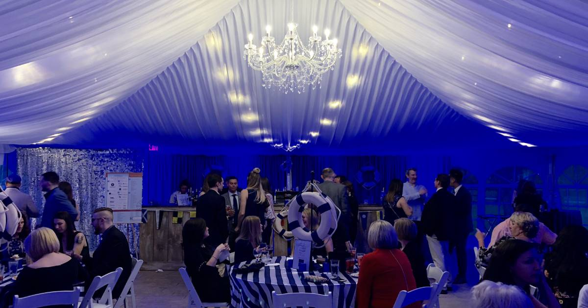 Candid shot of The Wesley Gala - inside the tent