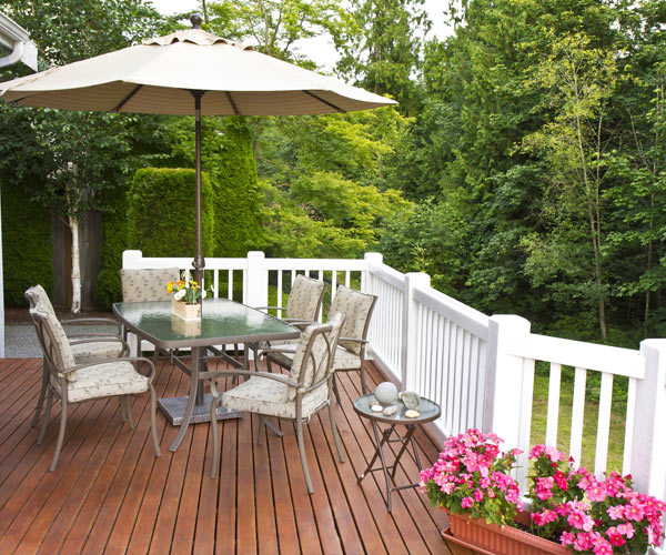 deck and outdoor furniture