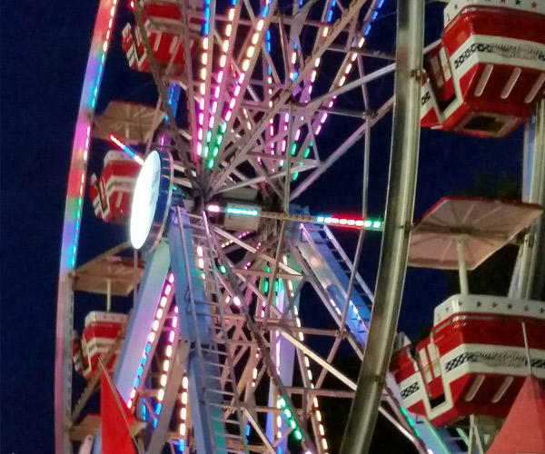 ferris wheel at saratoga county fair