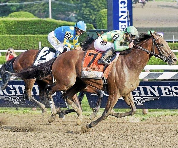 horses racing at saratoga