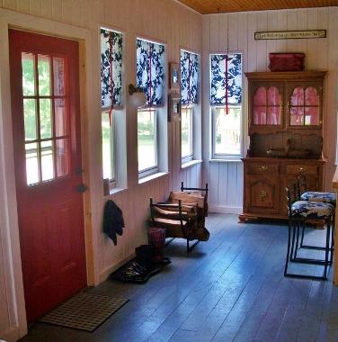 back porch hutch view