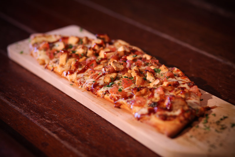 Barbeque Chicken Pizza at Saratoga City Tavern