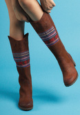 fall tribal patterned boot