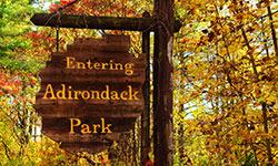 entering Adirondack Park sign