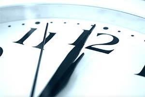 clock striking midnight