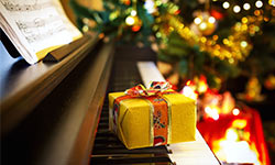 gift on a piano