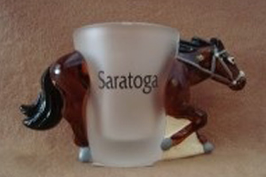 saratoga horse shot glass