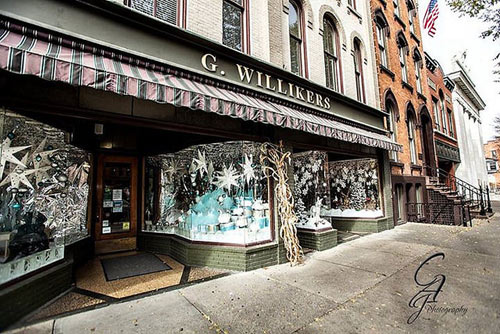 g. willikers winter storefront