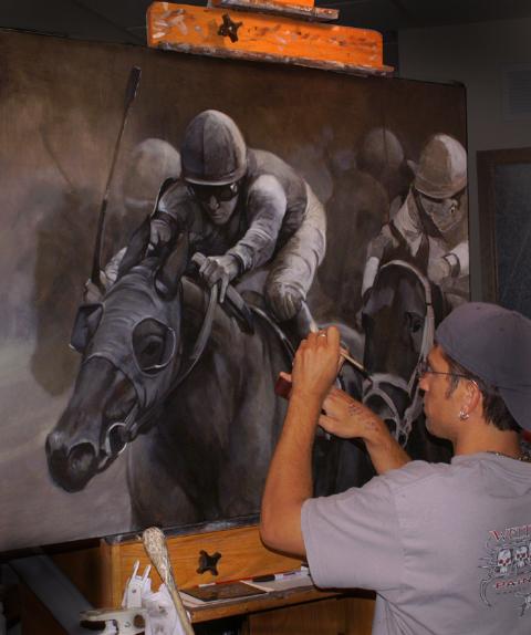 Brian T. Fox Horse Race 1 in Progress.jpg