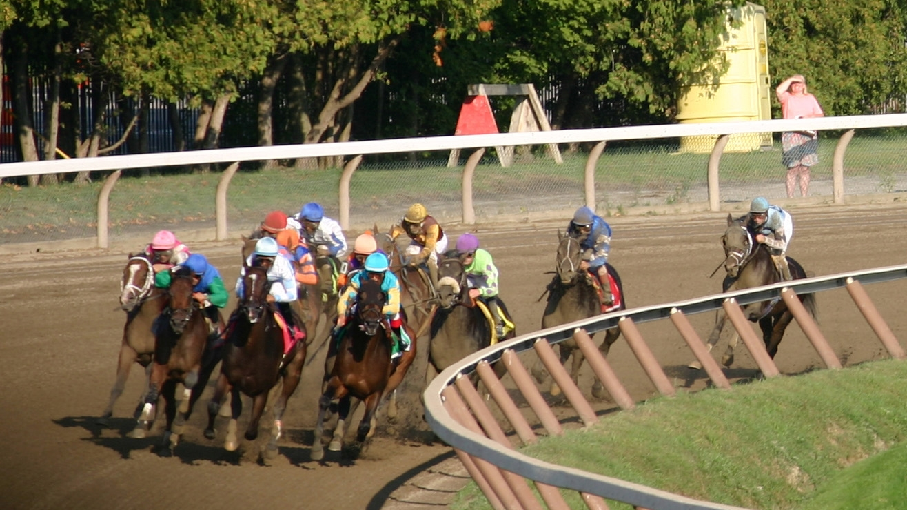 Around the Turn at Saratoga Lee Millett.JPG