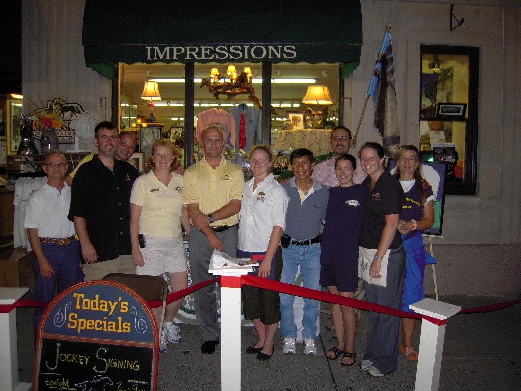 Impressions of Saratoga Mare with Joe Gleason Edgar Prado and Crew.JPG