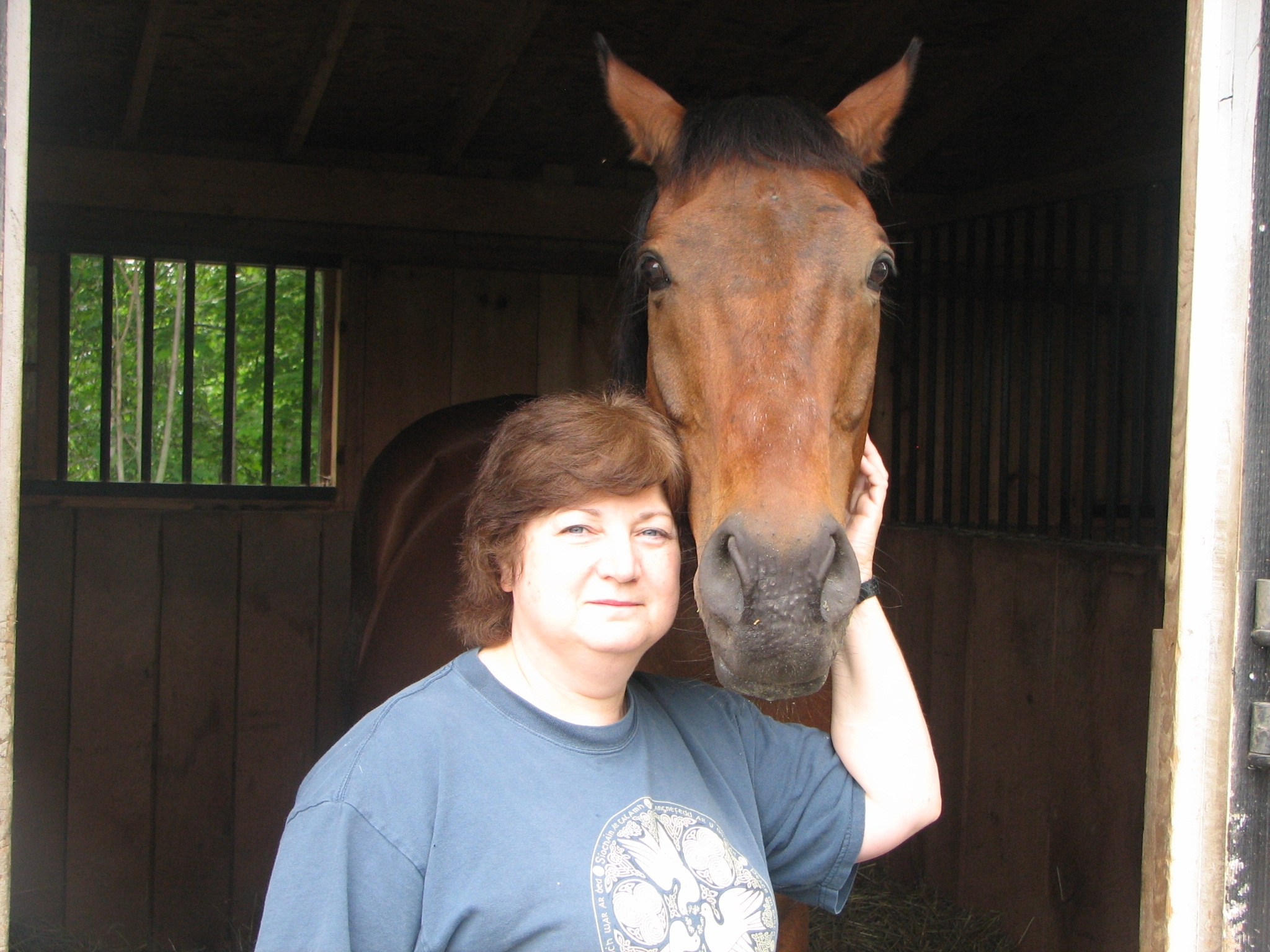 Equicurean EQUINE ADVOCATES Susan Wagner and Banner PHOTO.JPG