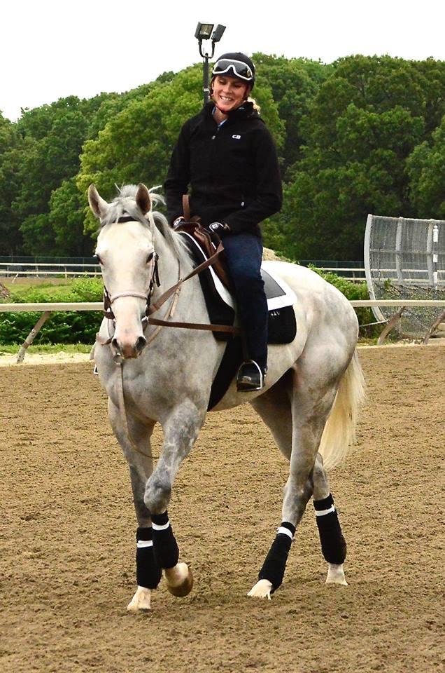 ABIGAIL ADSIT ASTRIDE GREY HORSE.JPG