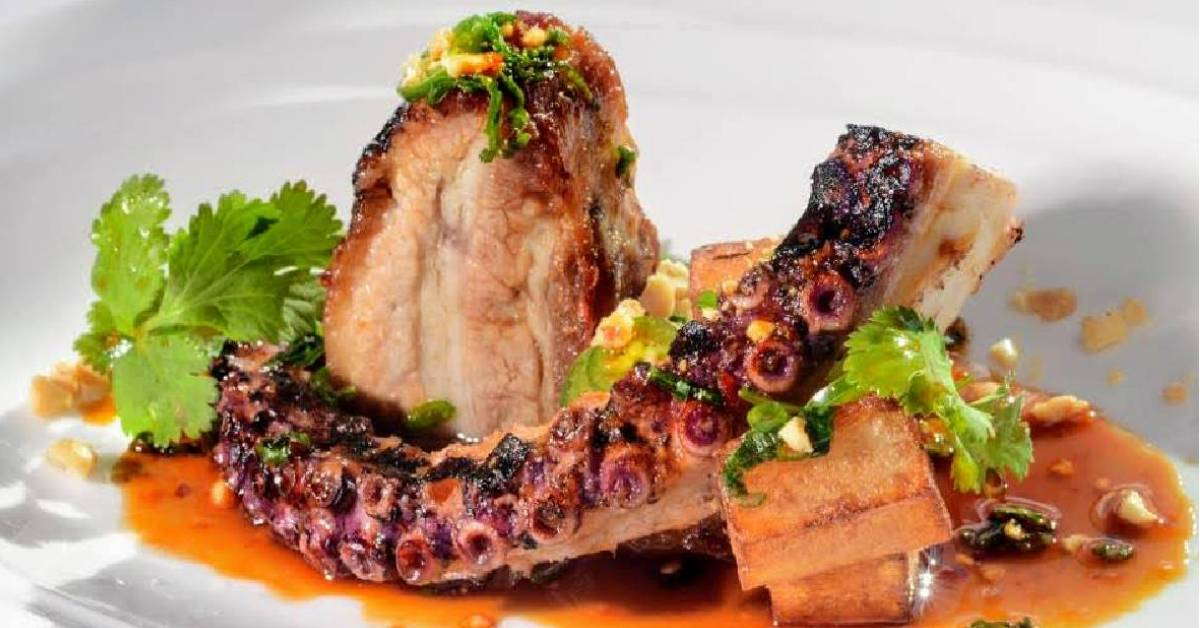 cooked octopus on a plate