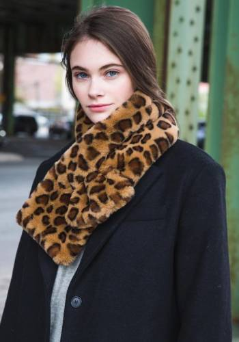 woman with animal print item