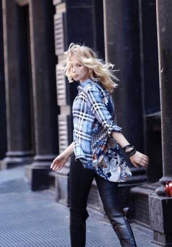 woman with flannel