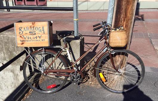 old bike in saratoga
