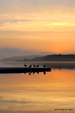 sunrise over saratoga lake