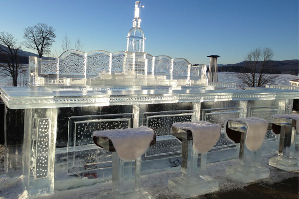 past ice bar at the sagamore