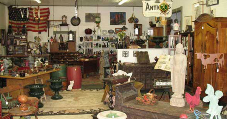 mix of antiques in a room