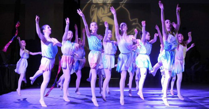 young ballerinas on stage