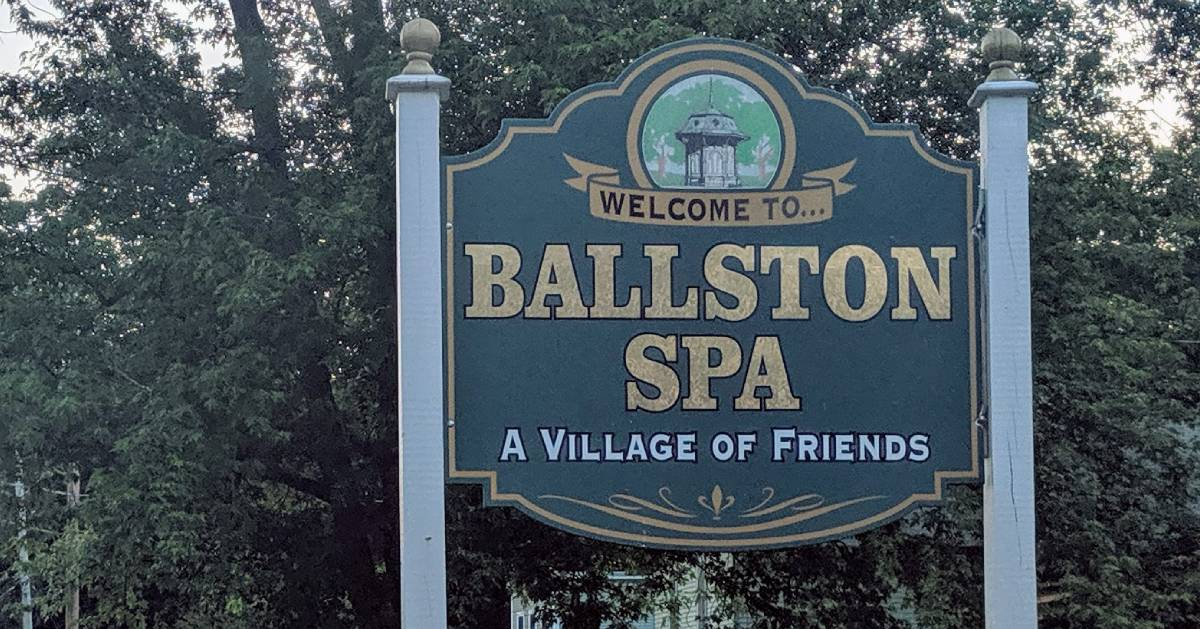 Ballston Spa sign