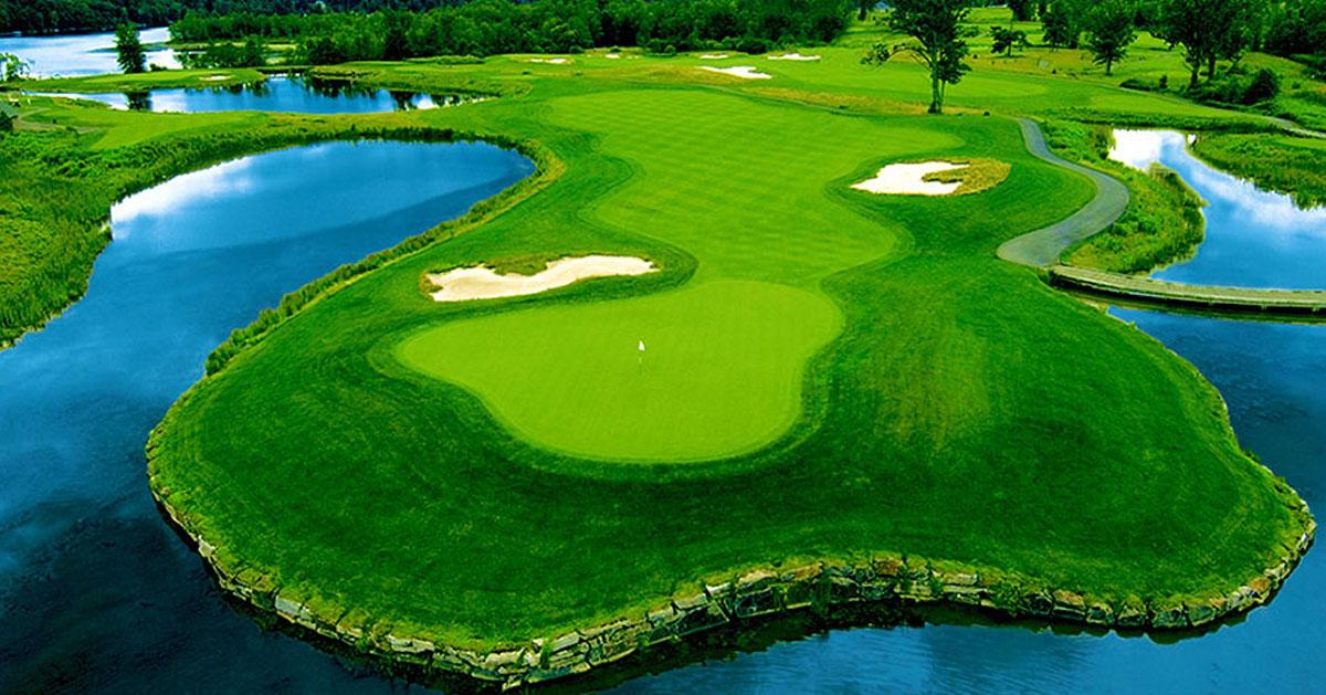 a beautiful golf course