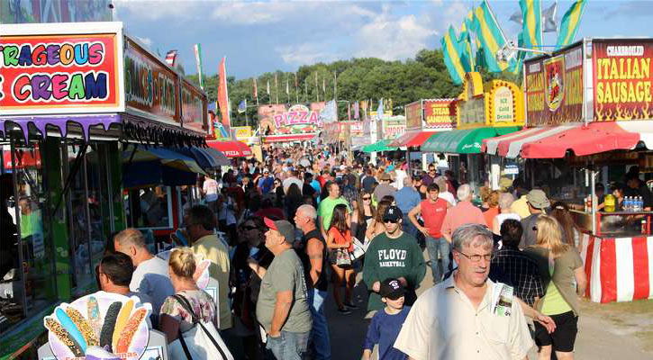 major crowd at the fair