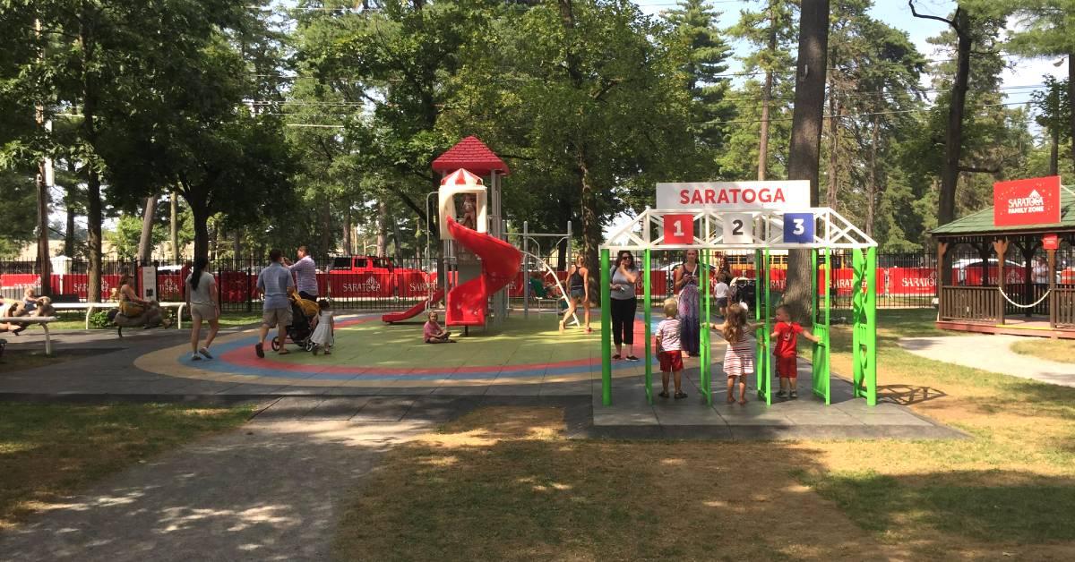 a kids play area