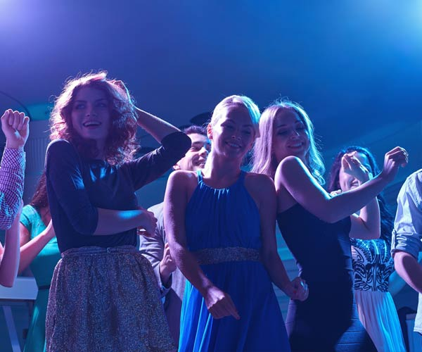 women dancing at a club