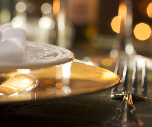 fine dining place setting
