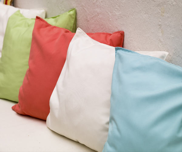colored pillows