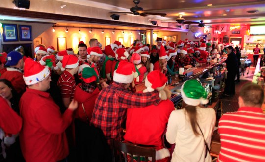 people inside a bar for holiday event
