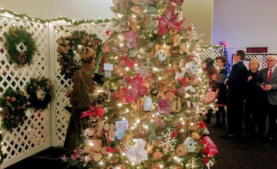 holiday tree display