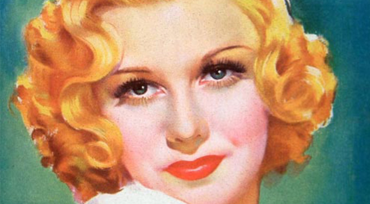 a vintage picture of a woman with a blonde bob