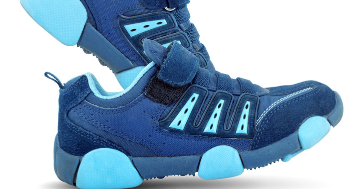 chunky blue sneakers