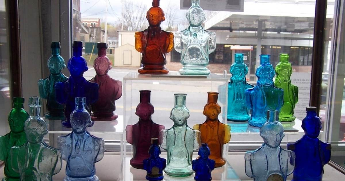 colorful bottles in the shape of a person