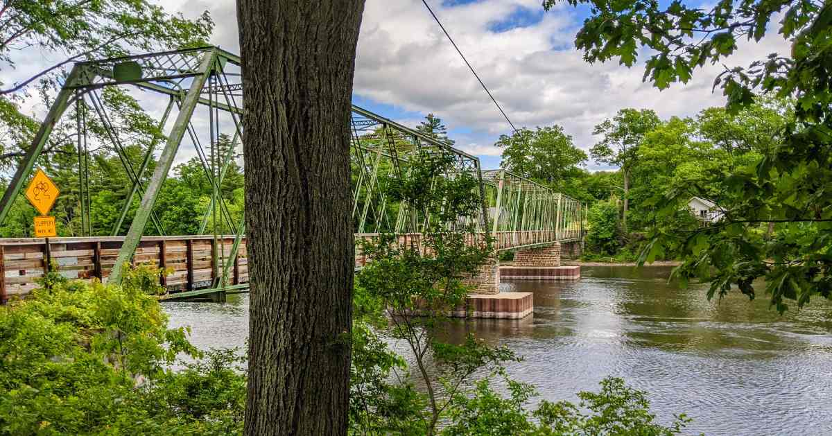 bridge over a large river
