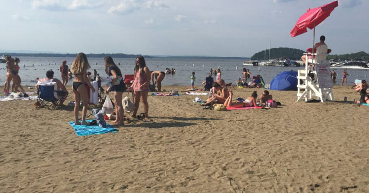 people on a sandy beach