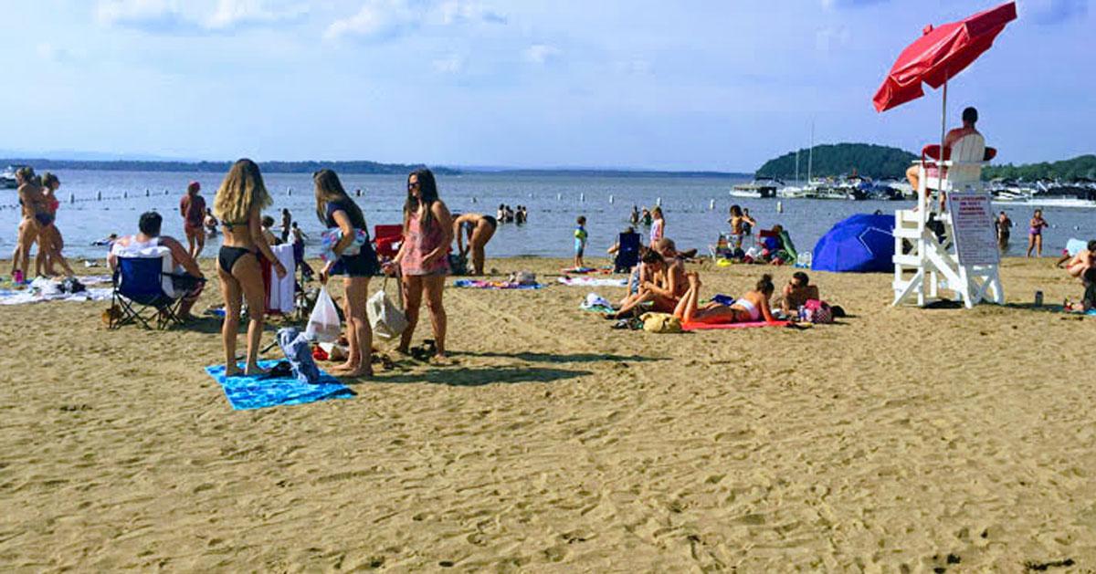 scene at beach