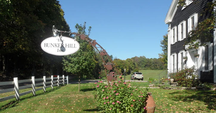 Bunker Hill sign in front of inn