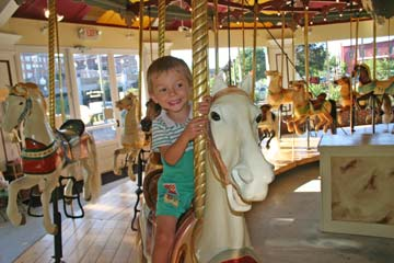 Congress Park Carousel in Saratoga Springs