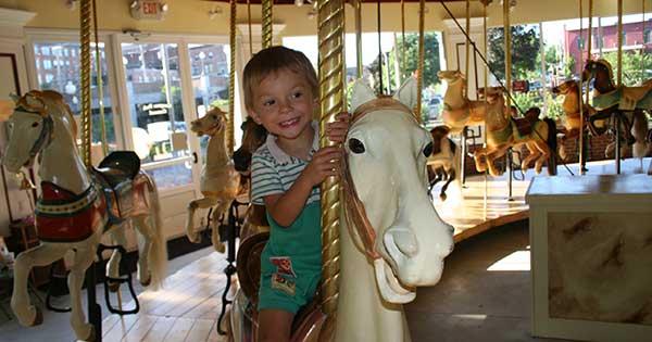 Congress Park Carousel in Saratoga Springs