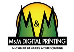 m & m digital printing logo